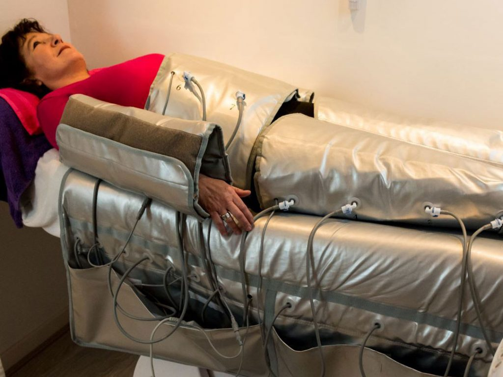 Pressotherapie mit Infrarot u. Body Wrapping
